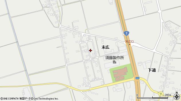 山形県酒田市広野末広90周辺の地図