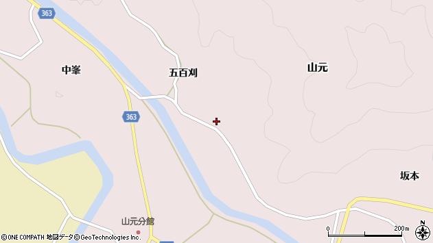 山形県酒田市山元五百刈41周辺の地図