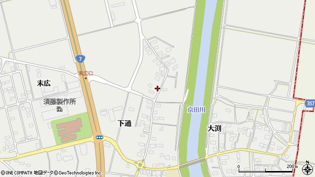 山形県酒田市広野下通127周辺の地図