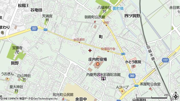山形県東田川郡庄内町余目町143周辺の地図