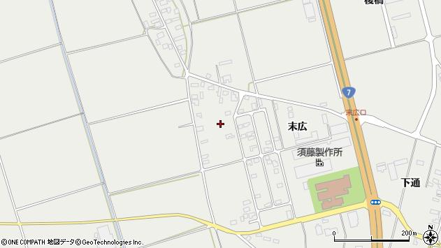 山形県酒田市広野末広63周辺の地図