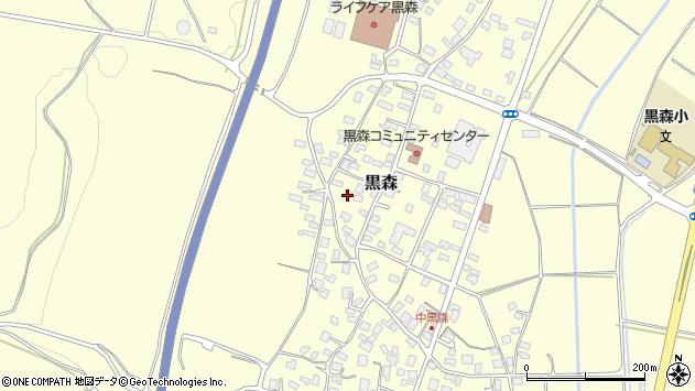 山形県酒田市黒森境山604周辺の地図