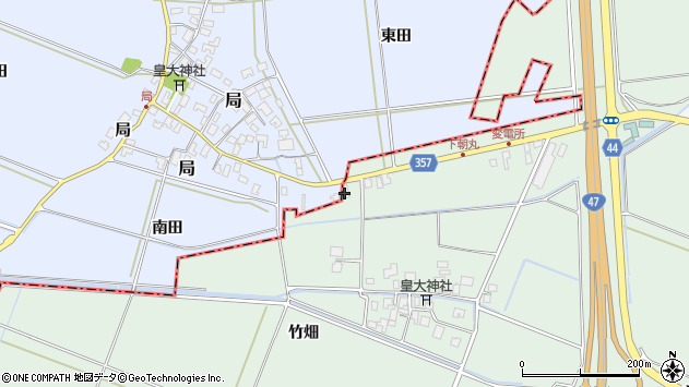 山形県酒田市局南田15周辺の地図