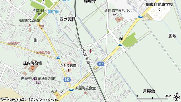 山形県東田川郡庄内町余目月屋敷160周辺の地図