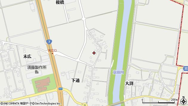 山形県酒田市広野下通128周辺の地図