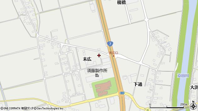 山形県酒田市広野末広84周辺の地図