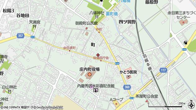 山形県東田川郡庄内町余目町108周辺の地図