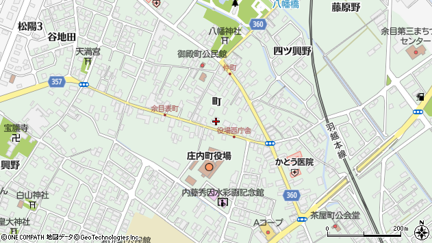山形県東田川郡庄内町余目町105周辺の地図