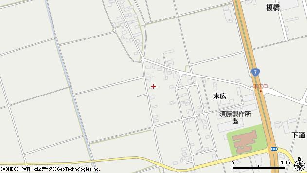 山形県酒田市広野末広10周辺の地図