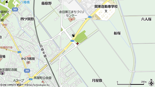 山形県東田川郡庄内町余目月屋敷108周辺の地図