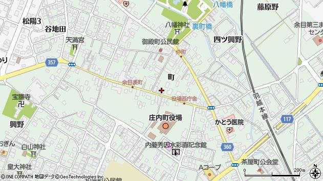 山形県東田川郡庄内町余目町104周辺の地図