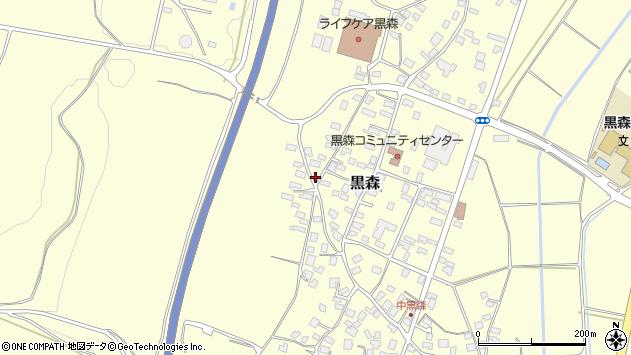 山形県酒田市黒森境山545周辺の地図
