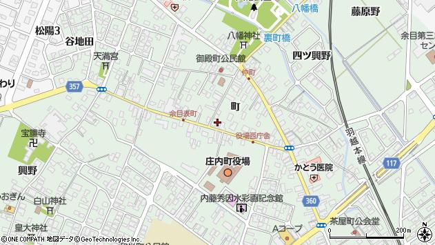 山形県東田川郡庄内町余目町101周辺の地図