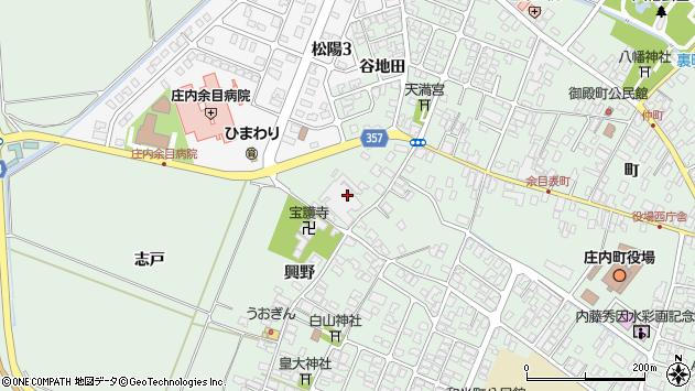 山形県東田川郡庄内町余目興野42周辺の地図