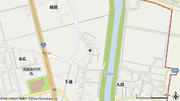 山形県酒田市広野下通133周辺の地図