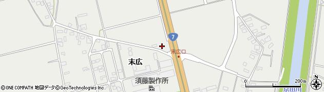 山形県酒田市広野末広82周辺の地図