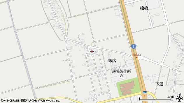 山形県酒田市広野末広70周辺の地図