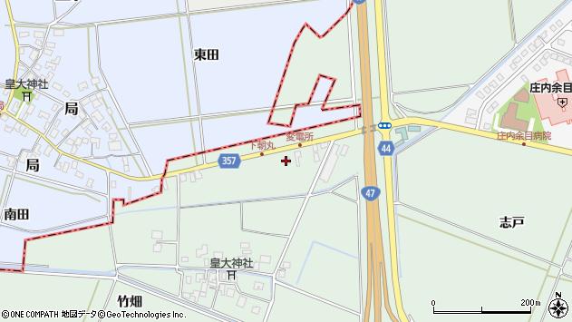 山形県東田川郡庄内町余目竹畑13周辺の地図
