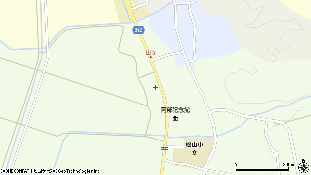 山形県酒田市山寺宅地209周辺の地図