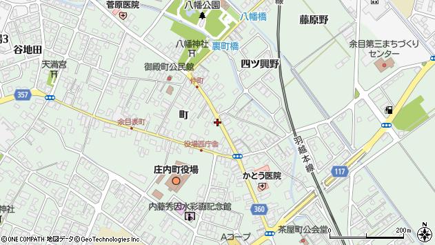 山形県東田川郡庄内町余目町112周辺の地図