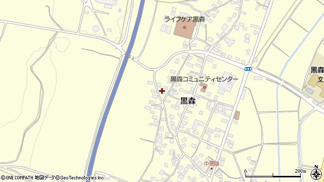 山形県酒田市黒森境山552周辺の地図