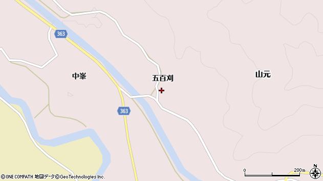 山形県酒田市山元五百刈58周辺の地図