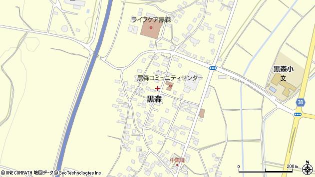 山形県酒田市黒森境山611周辺の地図