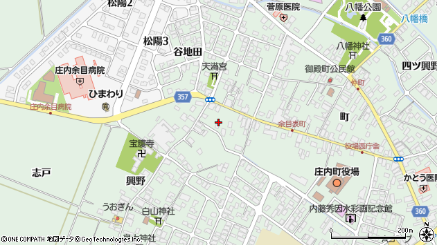 山形県東田川郡庄内町余目町181周辺の地図