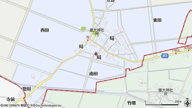 山形県酒田市局局22周辺の地図