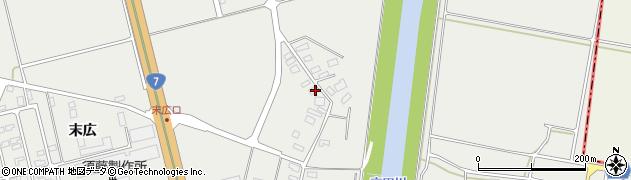 山形県酒田市広野下通156周辺の地図
