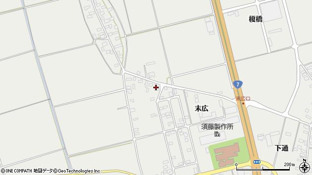 山形県酒田市広野末広1周辺の地図