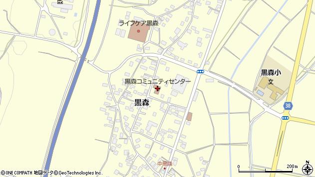 山形県酒田市黒森草刈谷地57周辺の地図