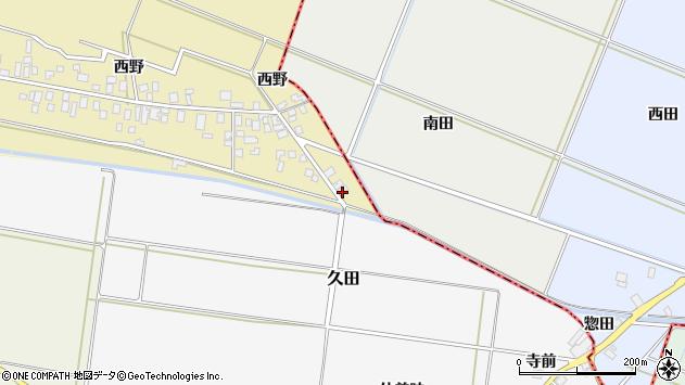 山形県東田川郡庄内町西野西野3周辺の地図