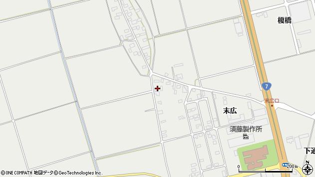 山形県酒田市広野末広7周辺の地図