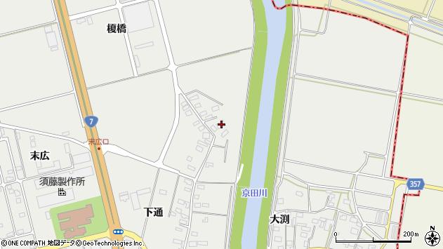 山形県酒田市広野下通135周辺の地図