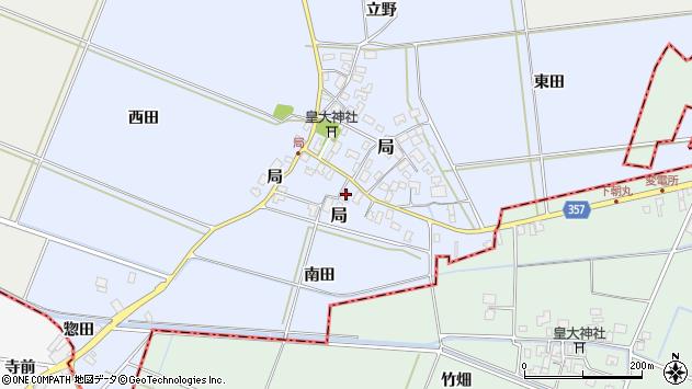 山形県酒田市局局20周辺の地図