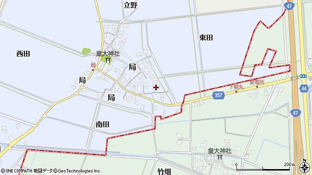 山形県酒田市局局2周辺の地図