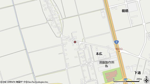 山形県酒田市広野末広2周辺の地図