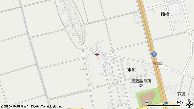 山形県酒田市広野末広3周辺の地図