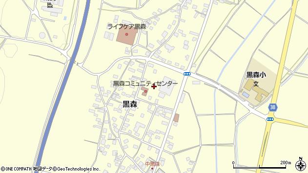 山形県酒田市黒森草刈谷地79周辺の地図