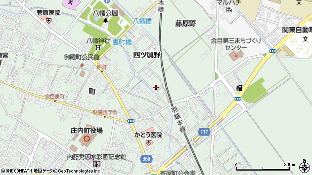 山形県東田川郡庄内町余目四ツ興野121周辺の地図