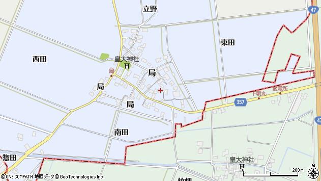 山形県酒田市局局9周辺の地図