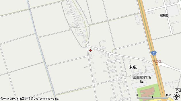 山形県酒田市広野末広6周辺の地図