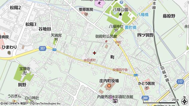 山形県東田川郡庄内町余目表町周辺の地図