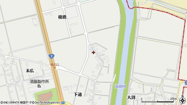山形県酒田市広野下通152周辺の地図