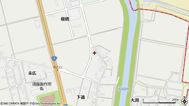 山形県酒田市広野下通151周辺の地図