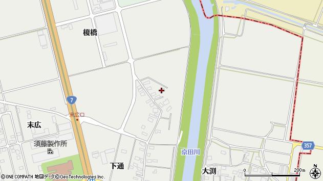 山形県酒田市広野下通141周辺の地図