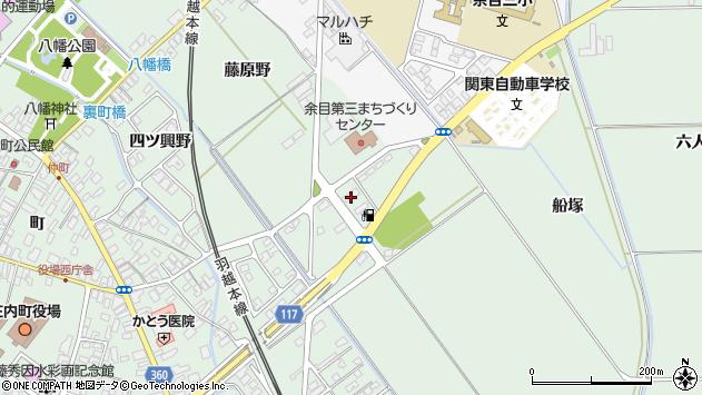 山形県東田川郡庄内町余目月屋敷101周辺の地図