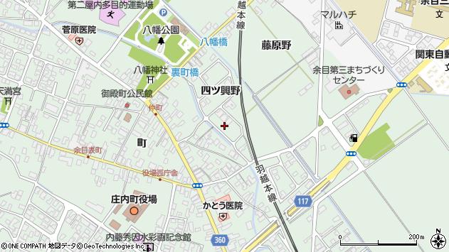 山形県東田川郡庄内町余目四ツ興野118周辺の地図