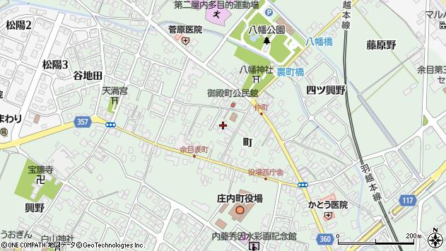 山形県東田川郡庄内町余目町215周辺の地図